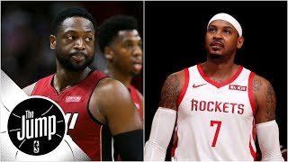 Dwyane Wade says Rockets making Melo 'fall guy,' LeBron says he deserves better | The Jump