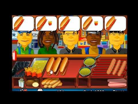 Funny game for kids - Hot Dog Seller, serving food games