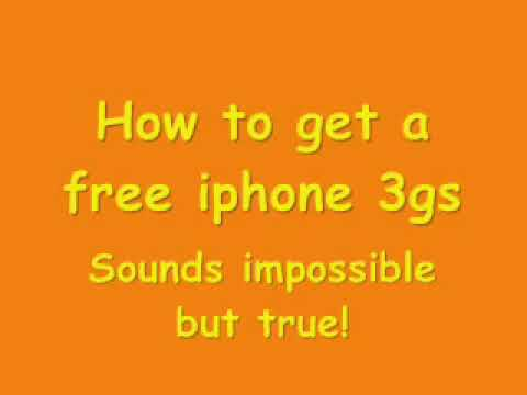 How to get a free Iphone 3gs