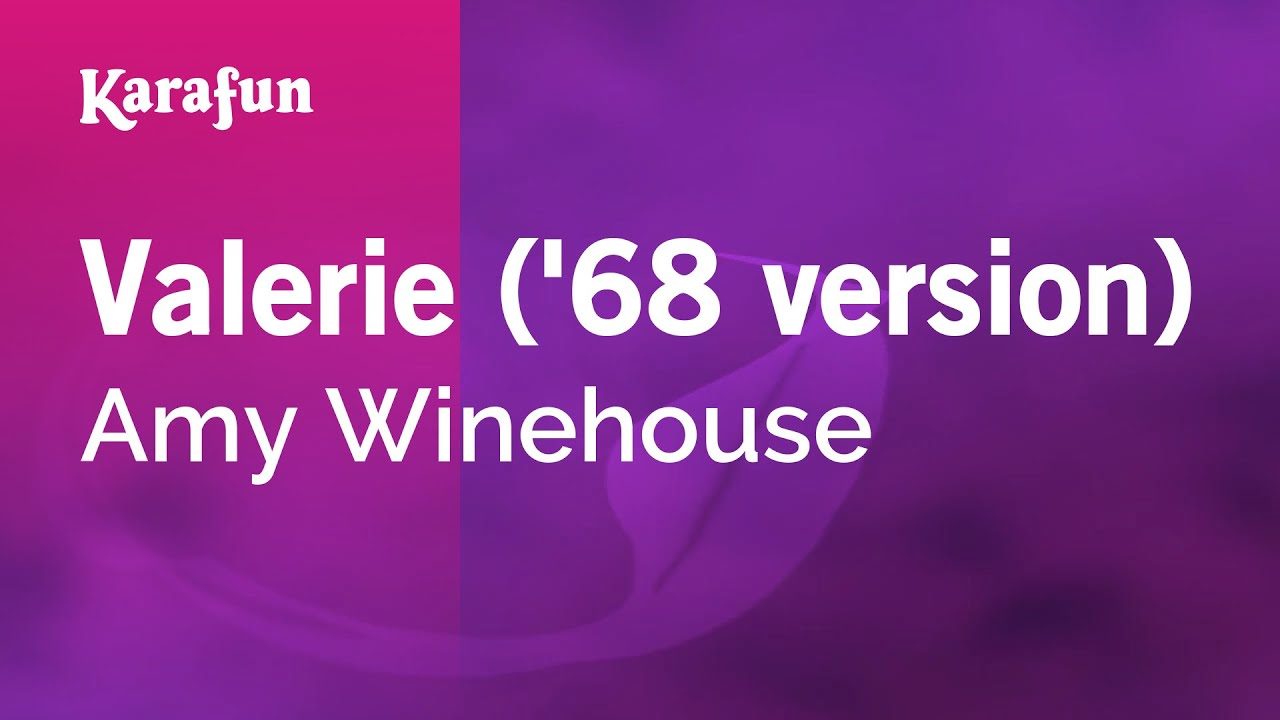 Karaoke valerie 68 version amy winehouse youtube
