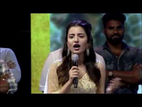 Heroine-Ruksar-Mir-speech---Krishnarjuna-Yudham-Pre-Release-Event
