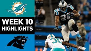 Dolphins vs. Panthers | NFL Week 10 Game Highlights