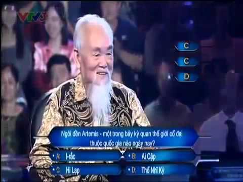 Ông cụ 78 tuổi rất hài hước ẵm 30 triệu Ai là triệu phú người cao tuổi