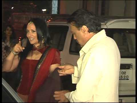 Jackie Shroff attended Aamir Khan's Diwali bash with wife Ayesha and daughter Krishna