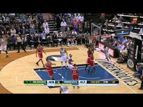 Milwaukee Bucks vs Minnesota Timberwolves | March 11, 2014 | NBA 2013-14 Season