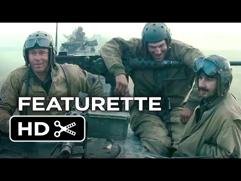 Fury Featurette - Brothers Under The Gun (2014) - Brad Pitt, Shia LaBeouf War Movie HD