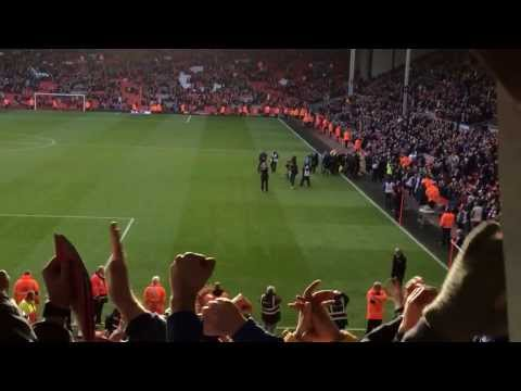 Final whistle at Anfield - support for Malky
