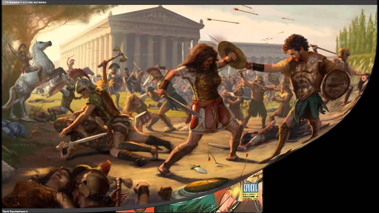 Trabajo de las amazonas la mitolog a y las artes youtube for En la mitologia griega la reina de las amazonas