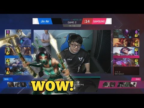 JAG (Ikksu Akali) VS SSG (Crown Fiora Mid) Game 2 Highlights - 2017 LCK Summer W4D5