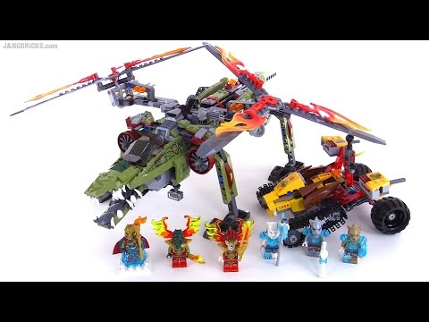 LEGO Chima King Crominus' Rescue review! set 70227