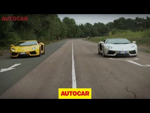 Lamborghini Aventador Roadster vs Aventador coupe - full length challenge video,