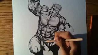 """How To Draw """"The HuLK"""" By: Brandon Hodge"""