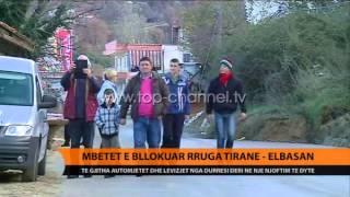 Mbetet e bllokuar rruga TiranElbasan  Top Channel Albania  News  L