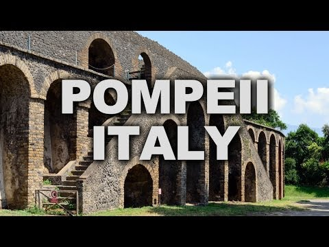 Ancient Pompeii, Destroyed by the Eruption of Vesuvius in 79AD