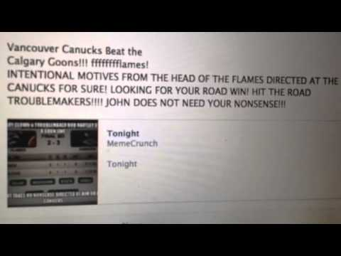 TORTORELLA & FLAMES - INTENTIONAL MOTIVES DIRECTED AT THE CANUCKS - LADYRANGER