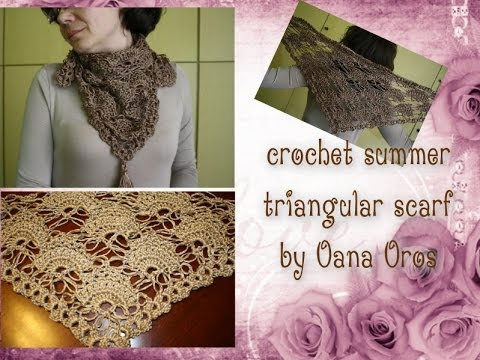 Crochet Stitches Youtube Channel : crochet kefiah or triagle shaped scarf - YouTube