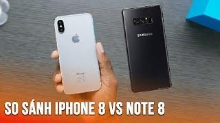 So sánh iPhone 8 và Galaxy Note 8 chuẩn bị ra mắt