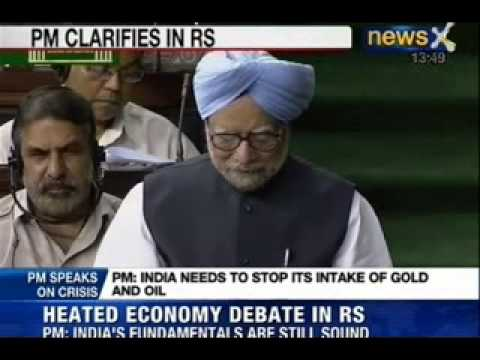 NewsX: Manmohan Singh on Indian economic crisis and the fall of rupee