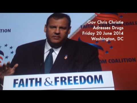 Chris Christie Addresses the War on Drugs in Washington DC, Fri 20 June 2014