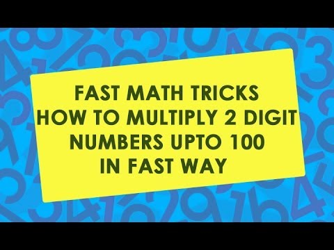 sai kiran vedic maths  ... NUMBERS | MATH TRICKS