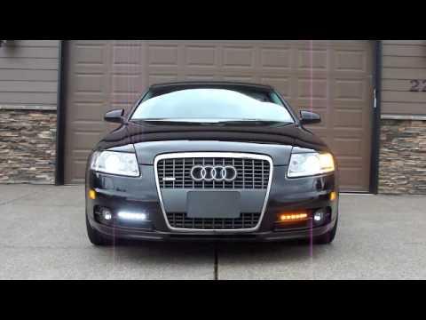 2006 Audi A6 Drl Led Switchback Turn Signal Lights Youtube