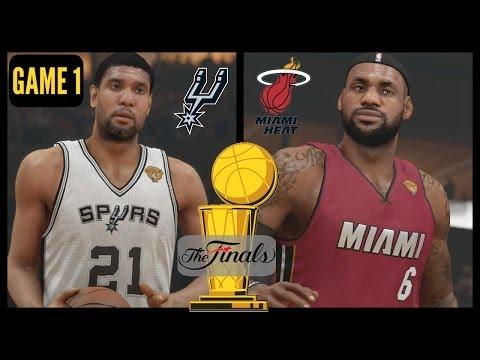 2014 NBA Finals: Heat vs Spurs - Game 1 Sim (NBA 2K14) PS4
