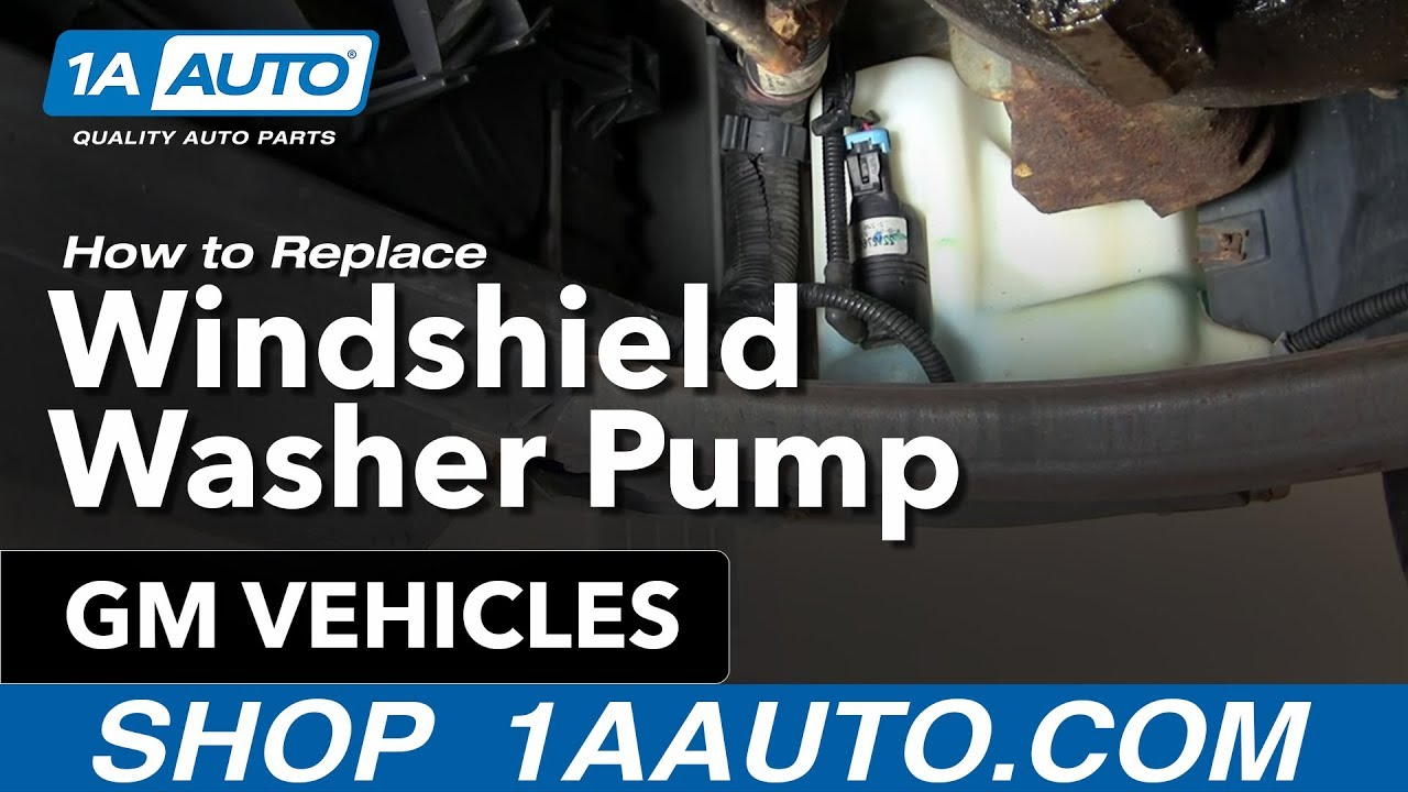 Windshield Washer Pump Replacement on chevy power window motor replacement