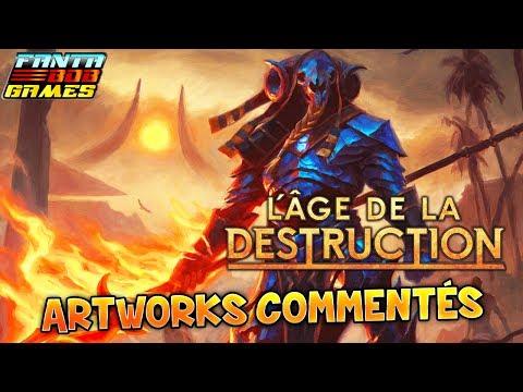 L'AGE DE LA DESTRUCTION - Artworks Commentés - Bestiaire, Divinités et Mythes de Magic