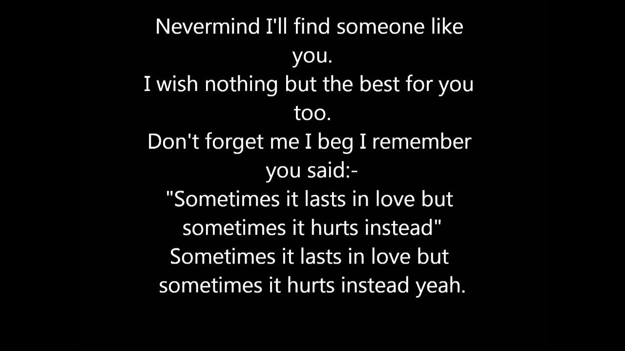 Adele - Someone Like You! Lyrics. - YouTube