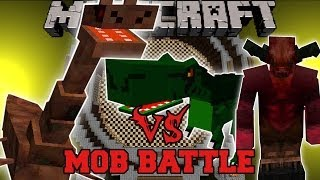 SEA MONSTER VS BEHEMOTH, DEMON, & T-REX - Minecraft Mob Battles - Mods