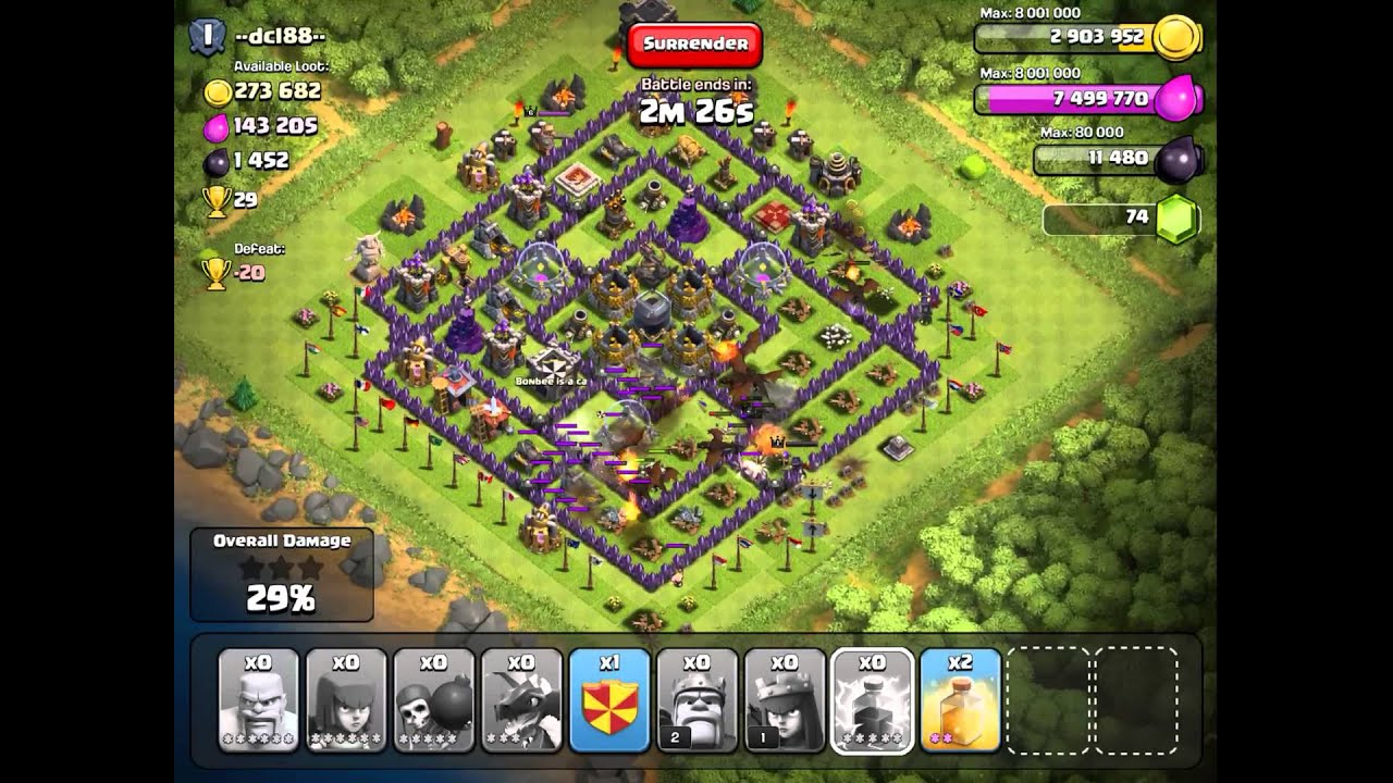 Clash of clans best attack strategy th8 farming youtube mup rijeka
