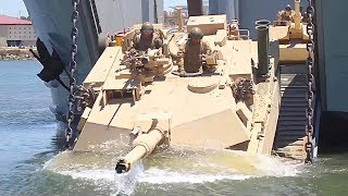 Marines 4th Tanks Amphibious Training (2014)