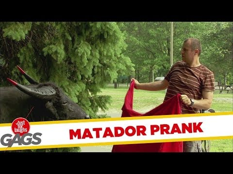 Accidental Matador Prank