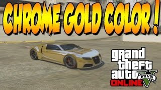 GTA 5 ONLINE HOW TO GET A CHROME GOLD COLOR PAINT!!