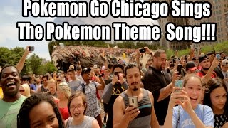Pokemon Theme Song Singing By The First Chicago Pokemon Go Meetup