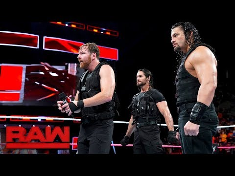 The Shield arrive on Raw looking for a fight Raw Oct 16 2017