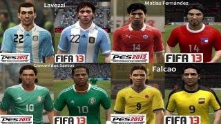 PES 2013 Vs FIFA 13 Face Comparison LATINOAMERICA