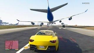 GTA 5 #22: Perseguição Épica / Salto Do Avião Para A