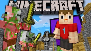 Minecraft 1.8: Zombie Pigmen Break Down Doors! New Mob AI
