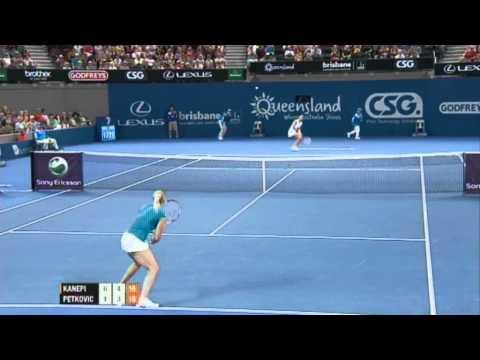 Kaia Kanepi v Andrea Petkovic Highlights Women's Singles Quarter Final: Brisbane International 2012