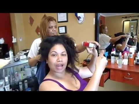 Dominican Blowout on Natural Hair 5/17/14