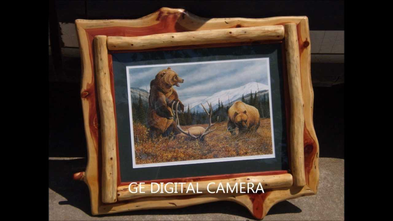 Full Trend Rustic Picture Frames : Rustic Log Furniture & Western Barnwood Picture Frames - YouTube