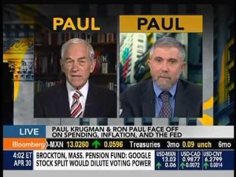 Ron Paul vs. Paul Krugman on Bloomberg TV - April 30, 2012