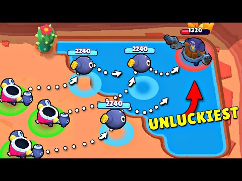 *UNLUCKIEST* PLAYER EVER in Brawl Stars /Funny Moments & Fails & Glitches #30