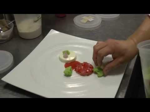 Won prepares a dessert at the 2 Michelin Korean Jungsik in New York