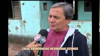 Casas abandonados s�o ocupadas por usu�rios de droga no Centro de Varginha
