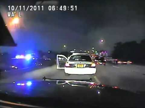 Dash Cam Video Shows Florida State Trooper Pulling Miami Cop Over At Gunpoint (full video)