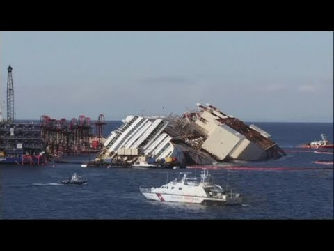 Costa Concordia time lapse: Wrecked ship is pulled off rocks in Italy