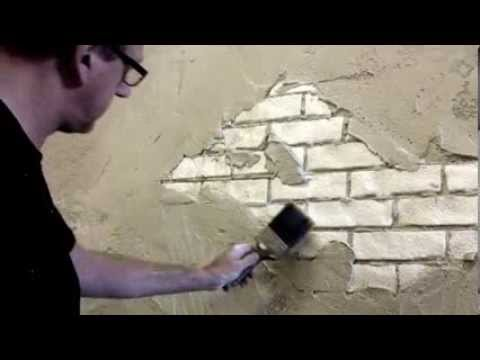 Faux brick wall creative painting techniques youtube for Creative watercolor painting techniques