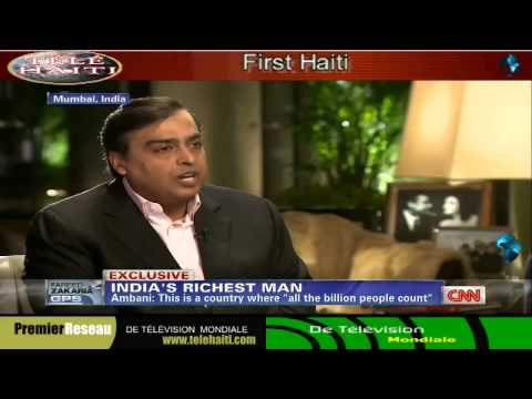India Richest Man:- Mukesh Ambani Television Interview With FAREED ZAKARIA